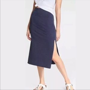 Athleta Oceana Midi Skirt Blue